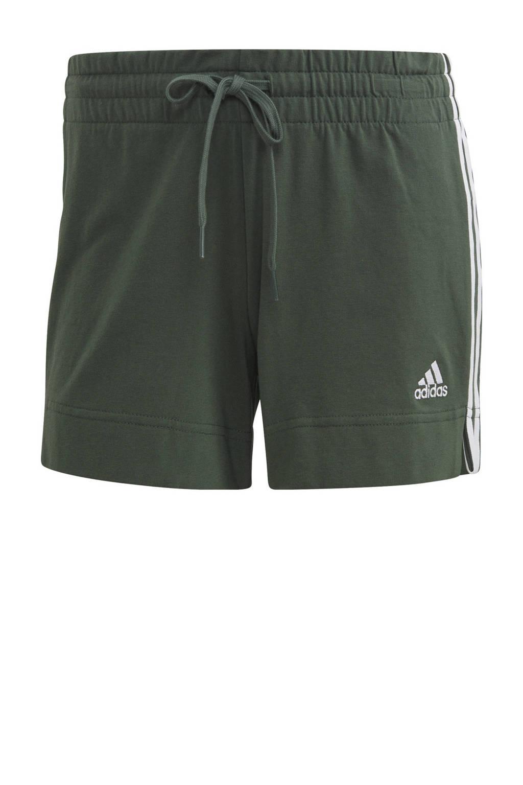 adidas Performance sportshort groen/wit, Groen/wit
