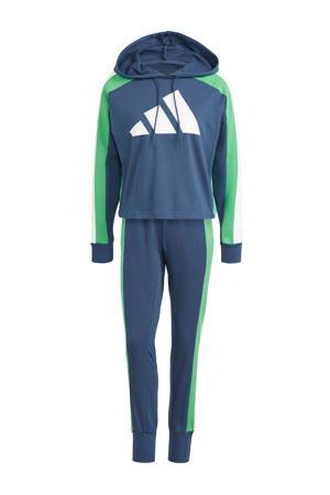 trainingspak donkerblauw/groen