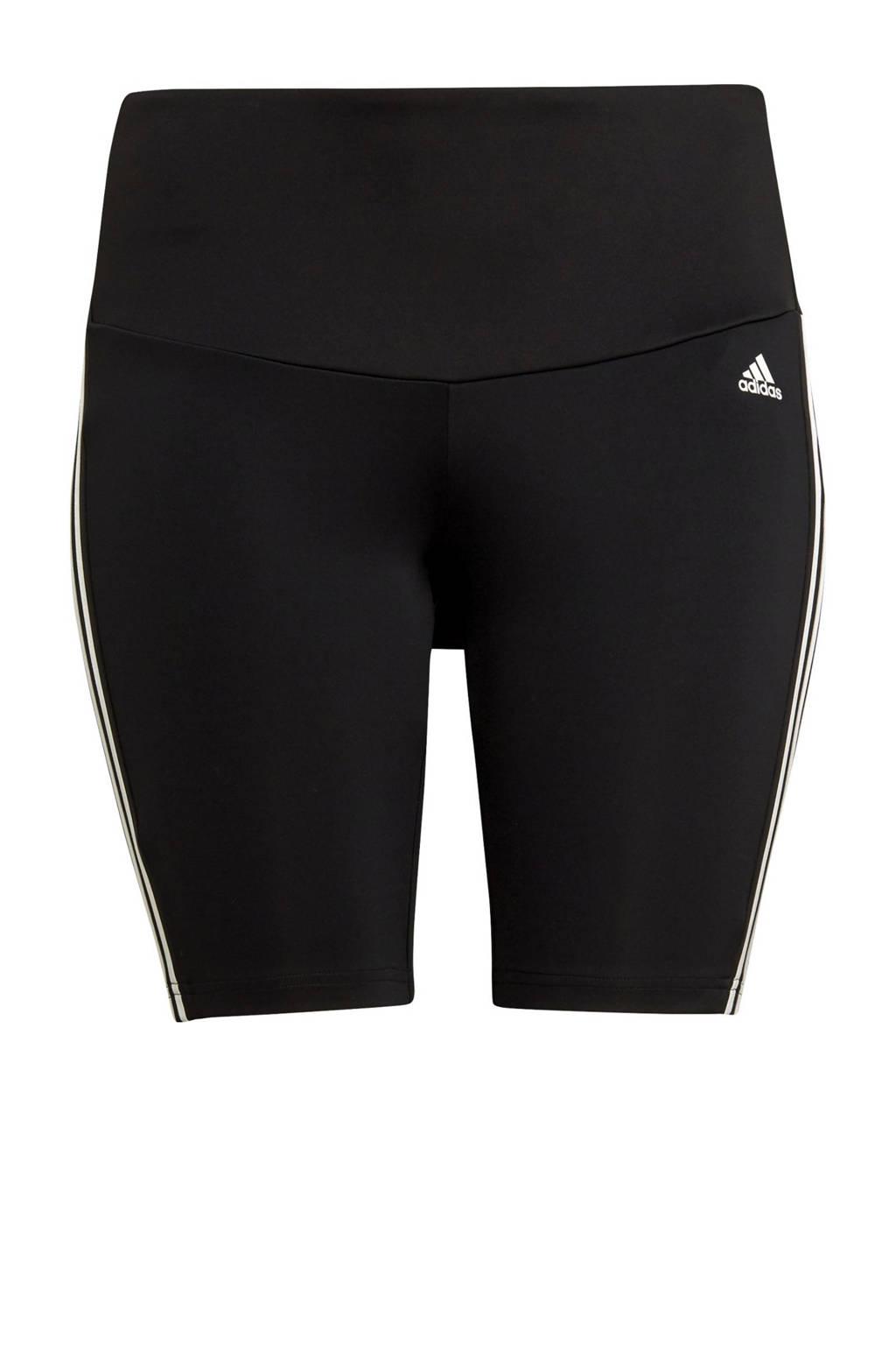 adidas Performance Plus Size Designed2Move sportshort zwart/wit, Zwart/wit