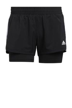 2-in-1 sportshort zwart/wit