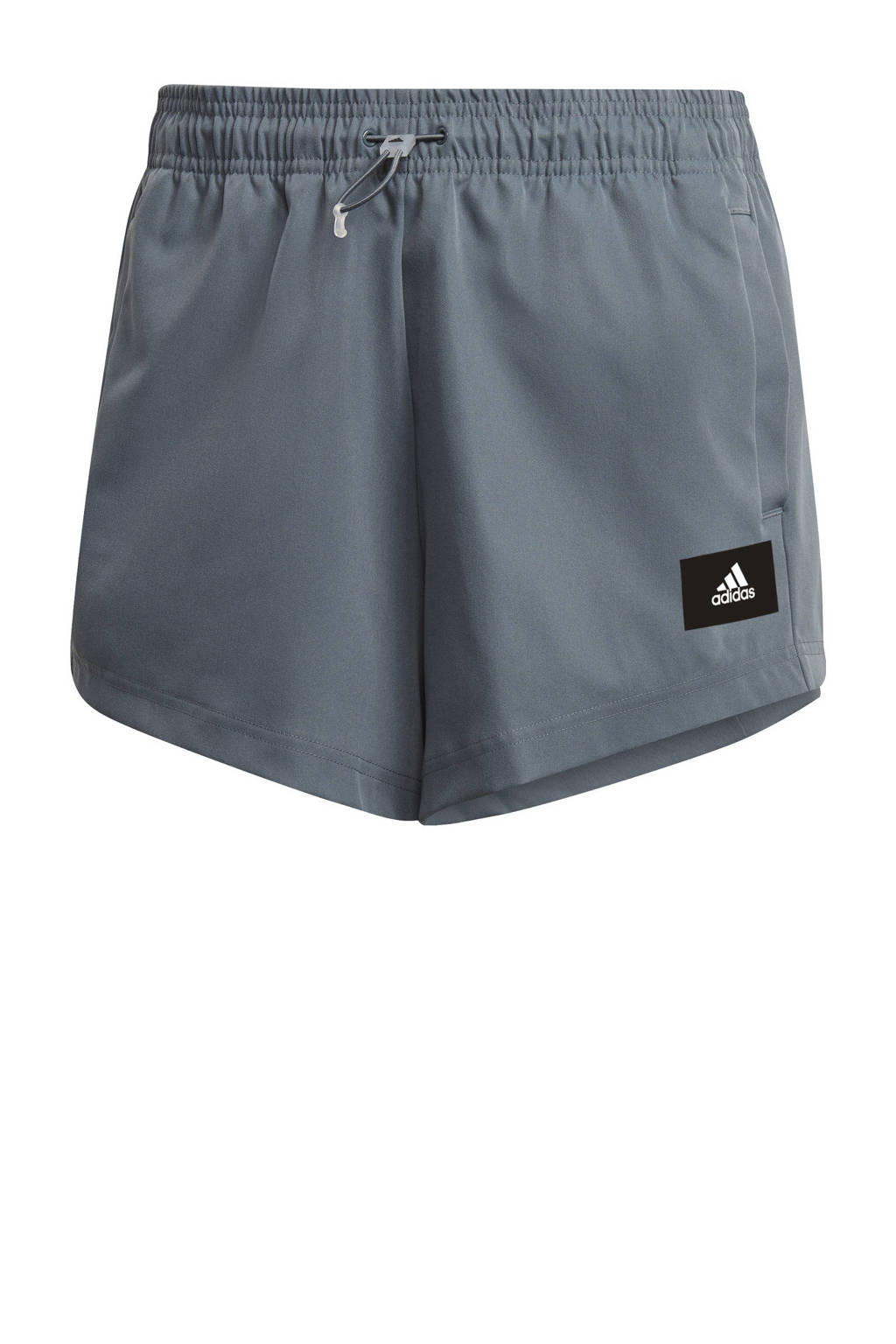 adidas Performance sportshort grijsblauw, Grijsblauw