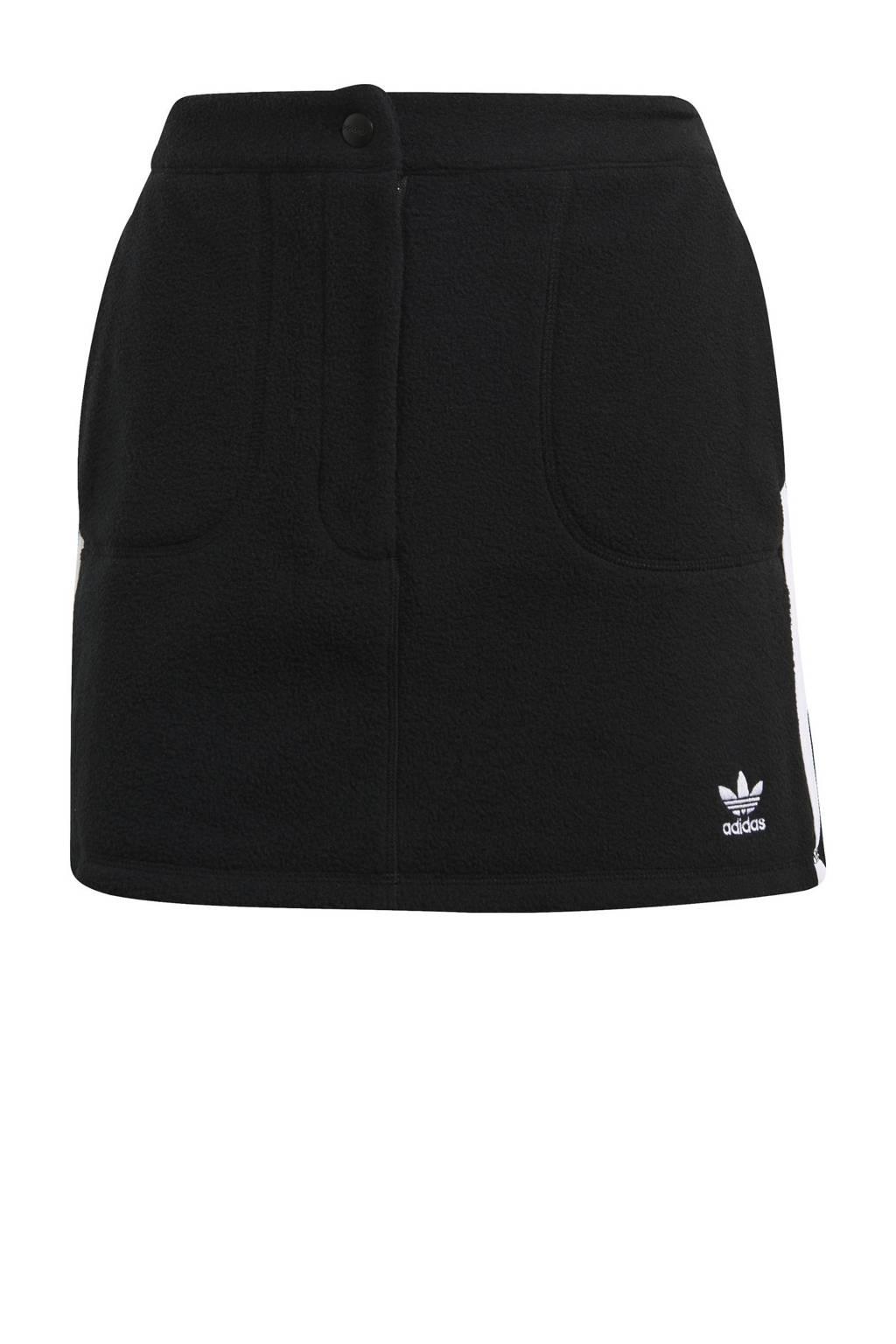 adidas Originals Adicolor fleece rok zwart, Zwart
