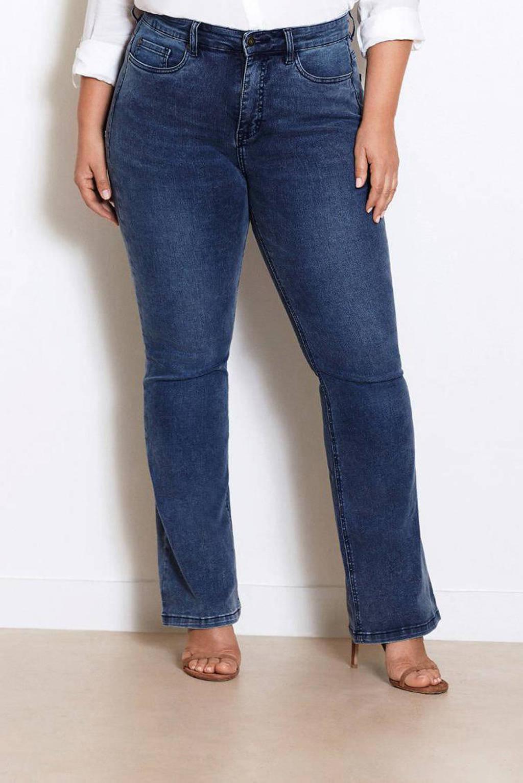 Fox Factor BOBI Pride Blue high waist flared jeans, Light denim stonewashed