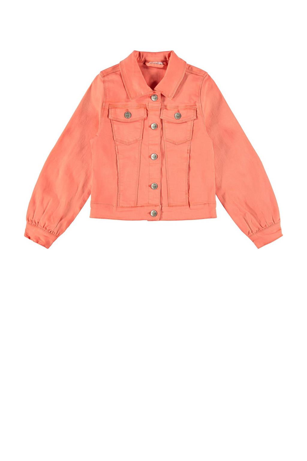 NAME IT KIDS spijkerjas Ataccas met biologisch katoen oranje, Oranje