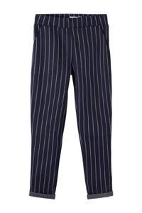 NAME IT KIDS gestreepte regular fit broek Domas donkerblauw, Donkerblauw