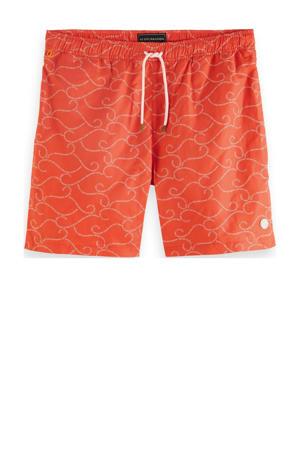 zwemshort met all over print oranje