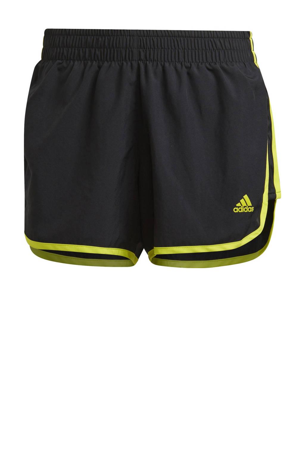 adidas Performance Marathon 20 hardloop short zwart/geel, Zwart/geel