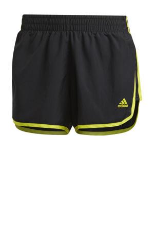 Marathon 20 hardloop short zwart/geel