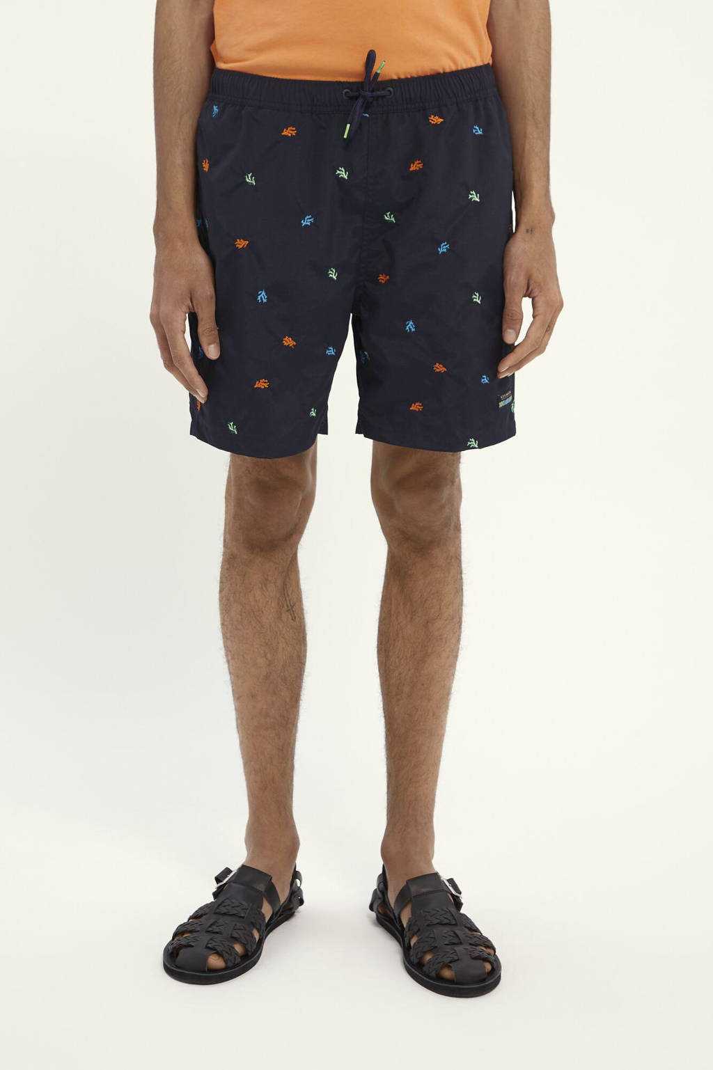 Scotch & Soda zwemshort met all over print donkerblauw, Donkerblauw