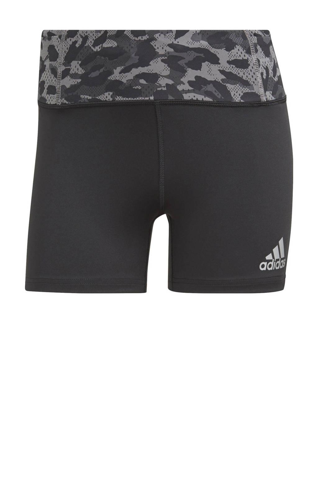 adidas Performance Adizero sportshort zwart/grijs, Zwart/grijs