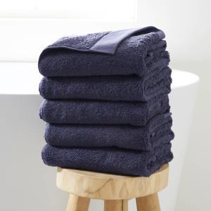 handdoek hotelkwaliteit (set van 5) (50 x 100 cm) Marine blauw