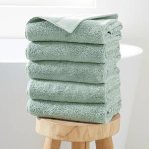 handdoek hotelkwaliteit (set van 5) (50 x 100 cm) Groen