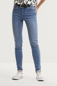 anytime mid rise skinny jeans blauw, Blauw