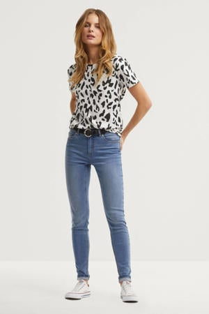 mid rise skinny jeans blauw