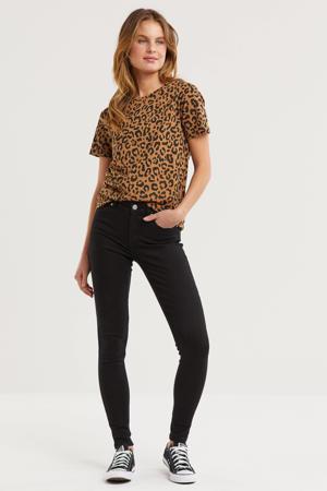 mid rise skinny jeans zwart