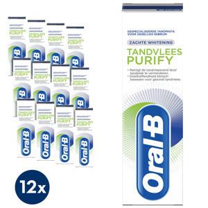 Tandvlees Purify Zachte Whitening tandpasta - 12 x 75 ml