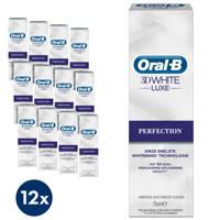 Oral-B 3D White Lu x e Perfection Whitening tandpasta - 12 x 75 ml