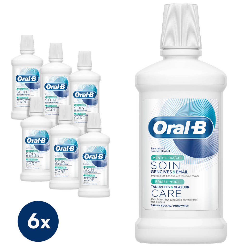 Oral-B Gum & Enamel Care Frisse Munt mondwater - 6 x 500 ml