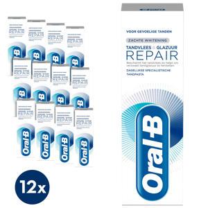 Tandvlees & Glazuur Repair Zachte Whitening tandpasta - 12 x 75 ml