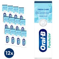 Oral-B PureActiv Fresh Care tandpasta - 12 x 75 ml