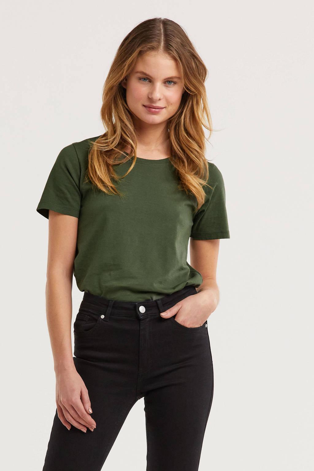 anytime T-shirt Khaki, Groen
