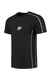 Malelions T-shirt met logo zwart, Zwart