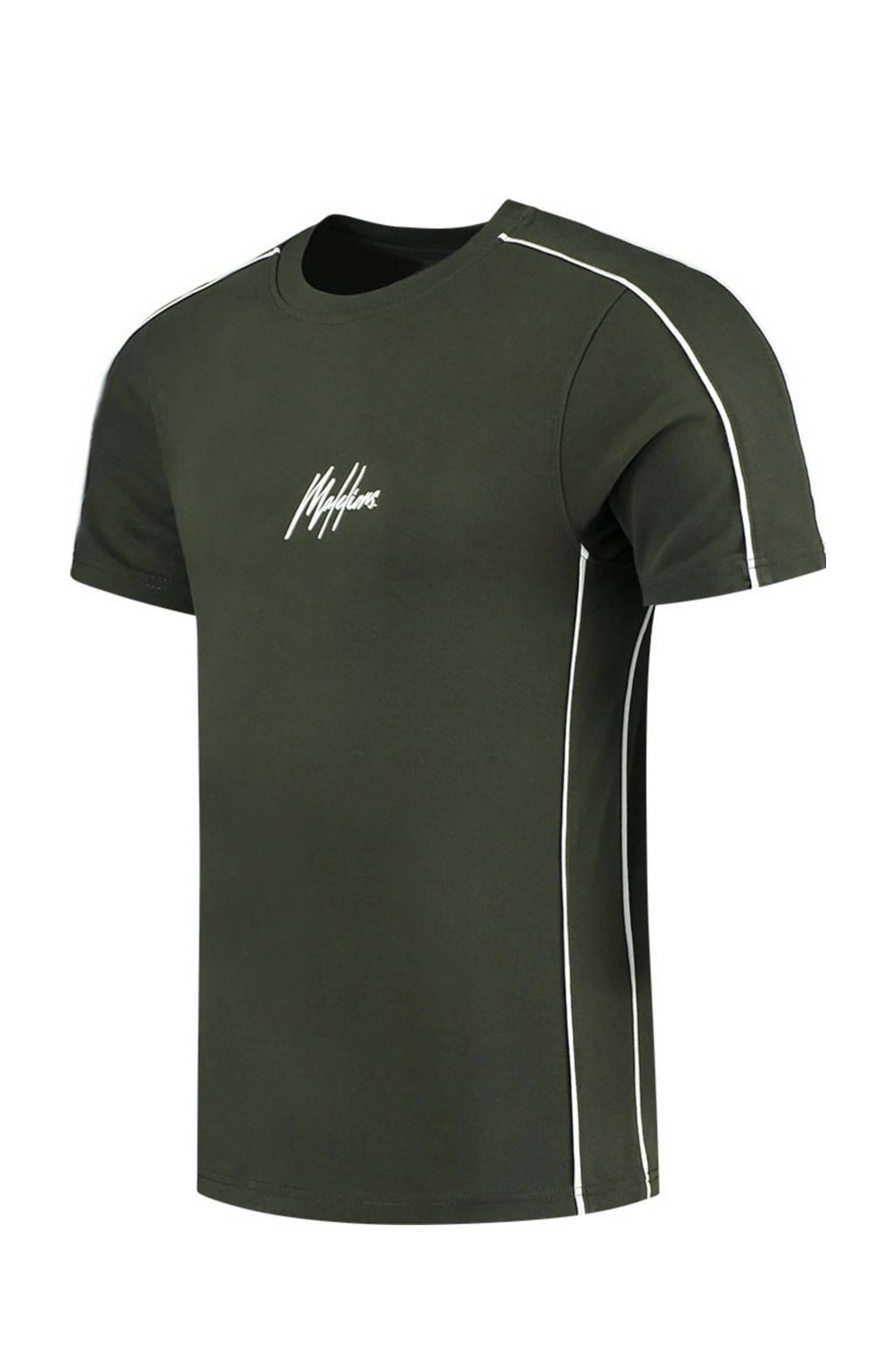 Malelions T-shirt donkergroen, Donkergroen
