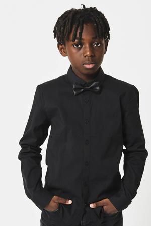 overhemd Bob met afneembare strik zwart