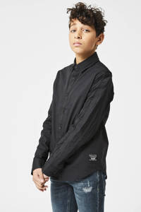 CoolCat Junior overhemd Bram zwart, Zwart