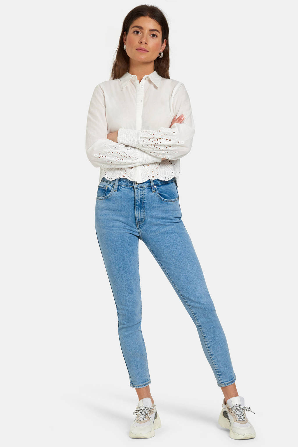 Eksept by Shoeby skinny jeans Lizzy bleached, Bleached