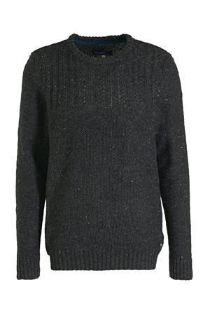 gemêleerde trui met wol grijsblauw