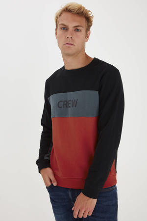 sweater zwart/rood