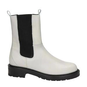 hoge leren chelsea boots wit