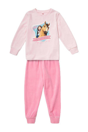 pyjama met printopdruk roze
