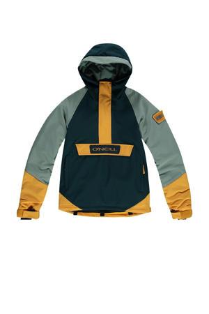 ski-anorak Edge groen/geel