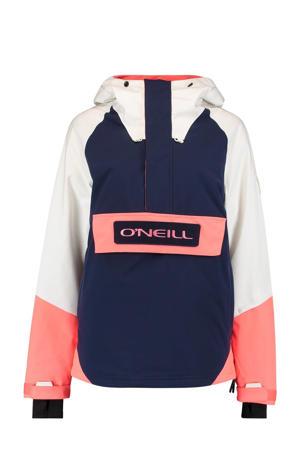 ski-anorak O'Riginals donkerblauw/wit/roze