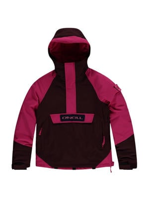 ski-anorak Edge bruin/roze
