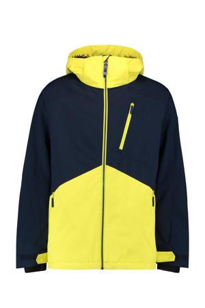 ski-jack Aplite donkerblauw/geel