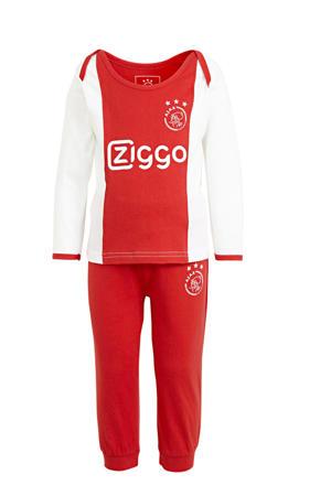 Ajax baby pyjama rood/wit