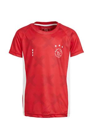 Ajax T-shirt met logo rood/wit