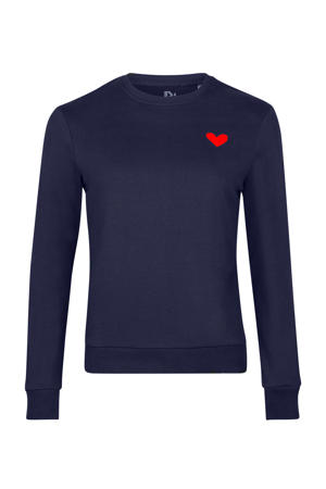 sweater Red Heart met printopdruk blauw