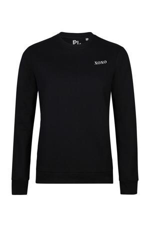 sweater Xoxo met printopdruk zwart
