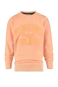 Vingino Essentials sweater met logo neon oranje, Neon oranje