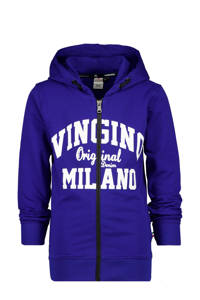 Vingino Essentials vest met logo kobaltblauw/wit, Kobaltblauw/wit