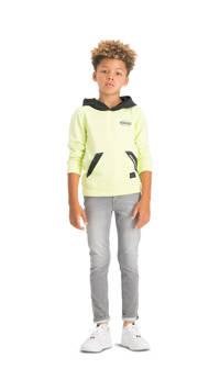 Vingino hoodie Nonano neon geel/zwart, Neon geel/zwart