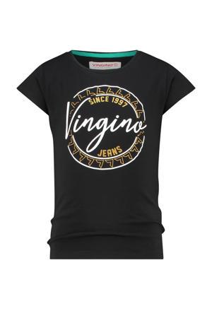 T-shirt Harper met logo zwart