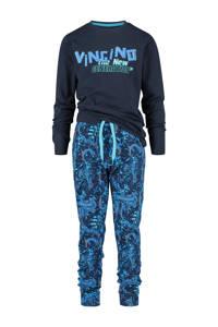 Vingino   pyjama Wungle met all over print donkerblauw/blauw, Donkerblauw/blauw