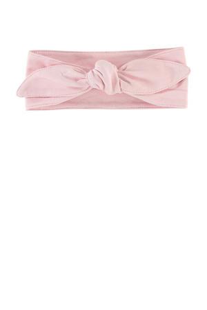 baby haarband Vive met strik roze