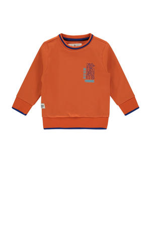 sweater Naud met printopdruk rood/blauw