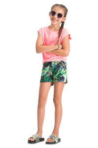 Vingino T-shirt Hannaeh met logo koraalroze, Koraalroze